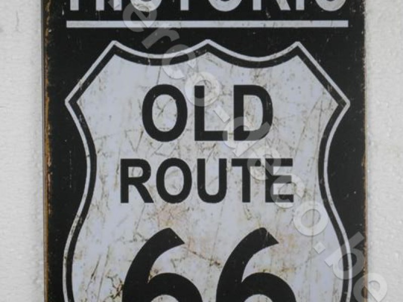 Metalen muurplaat   ROUTE 66