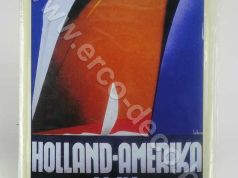 Metalen muurplaat ; reclameplaat   HOLLAND-AMERIKA LIJN
