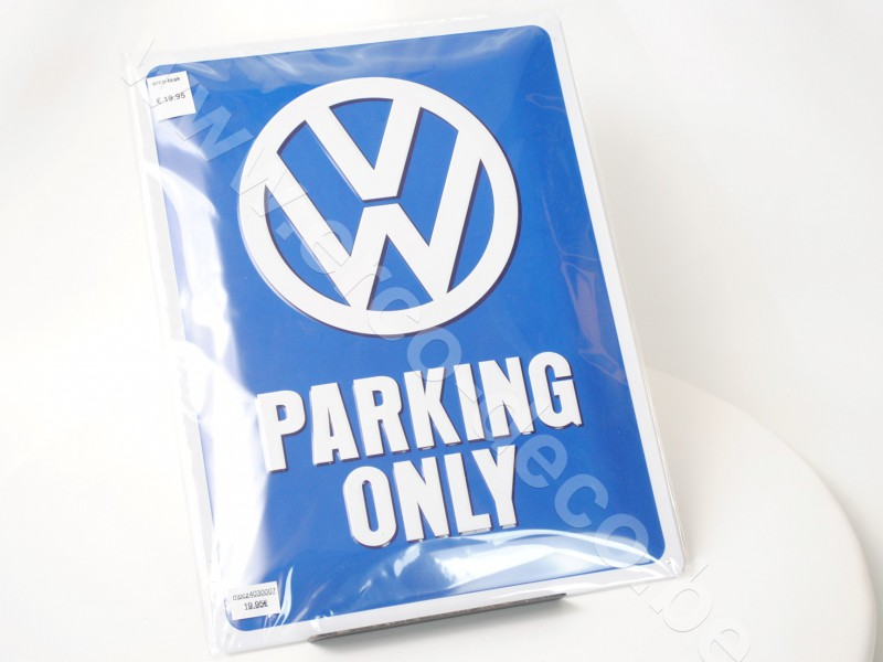 Metalen muurplaat  VW PARKING ONLY