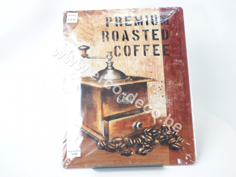 Metalen muurplaat   PREMIUM ROASTED COFFEEE