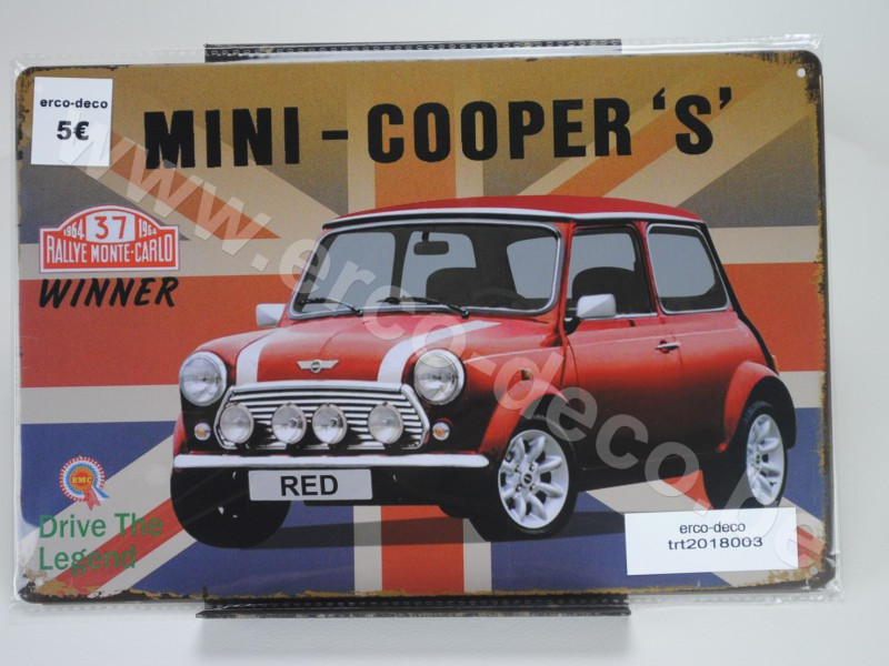 Metalen muurplaat  MINI-COOPER'S'