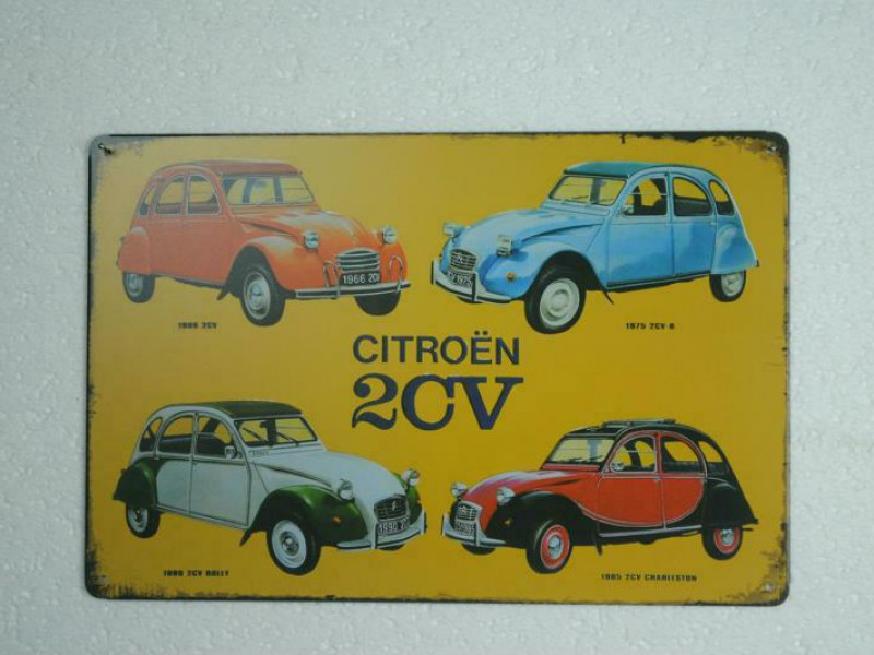 Metalen muurplaat   CITROËN 2CV